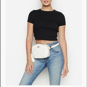 Victoria's secret, studded v-quilt belt bag.